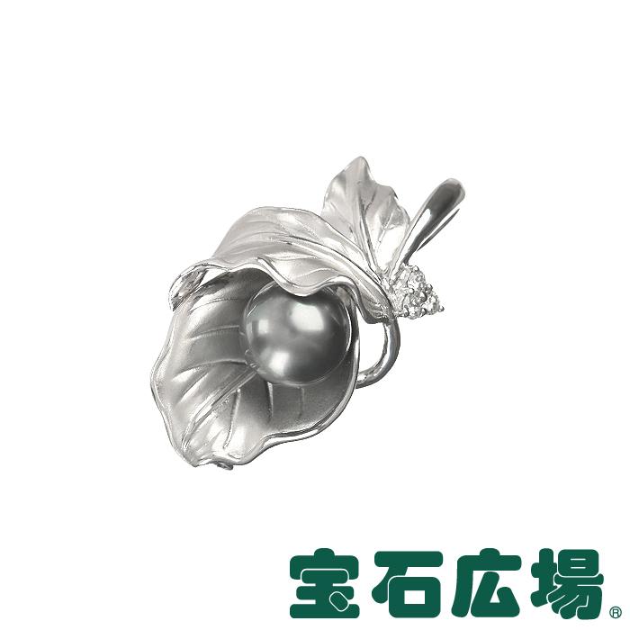 ノーブランド リーフ ブラックパール・ダイヤ ペンダントブローチ 【中古】 ジュエリー 送料無料