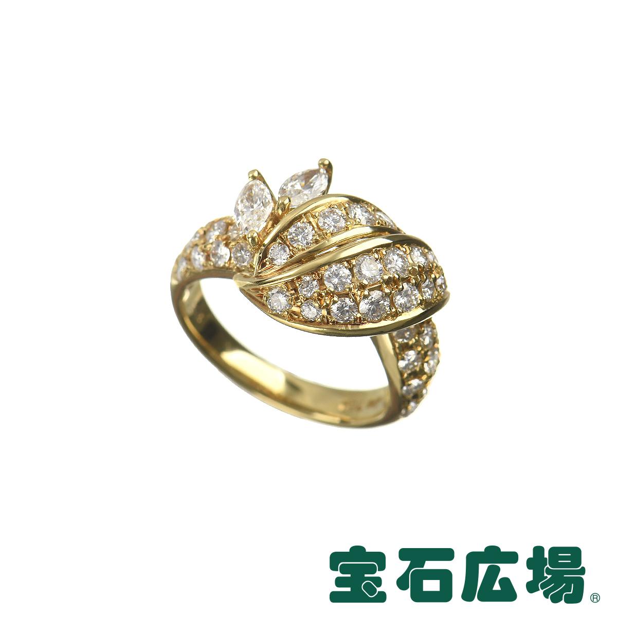クイーン マーキスダイヤ・ダイヤ リング 【中古】 ジュエリー 送料無料