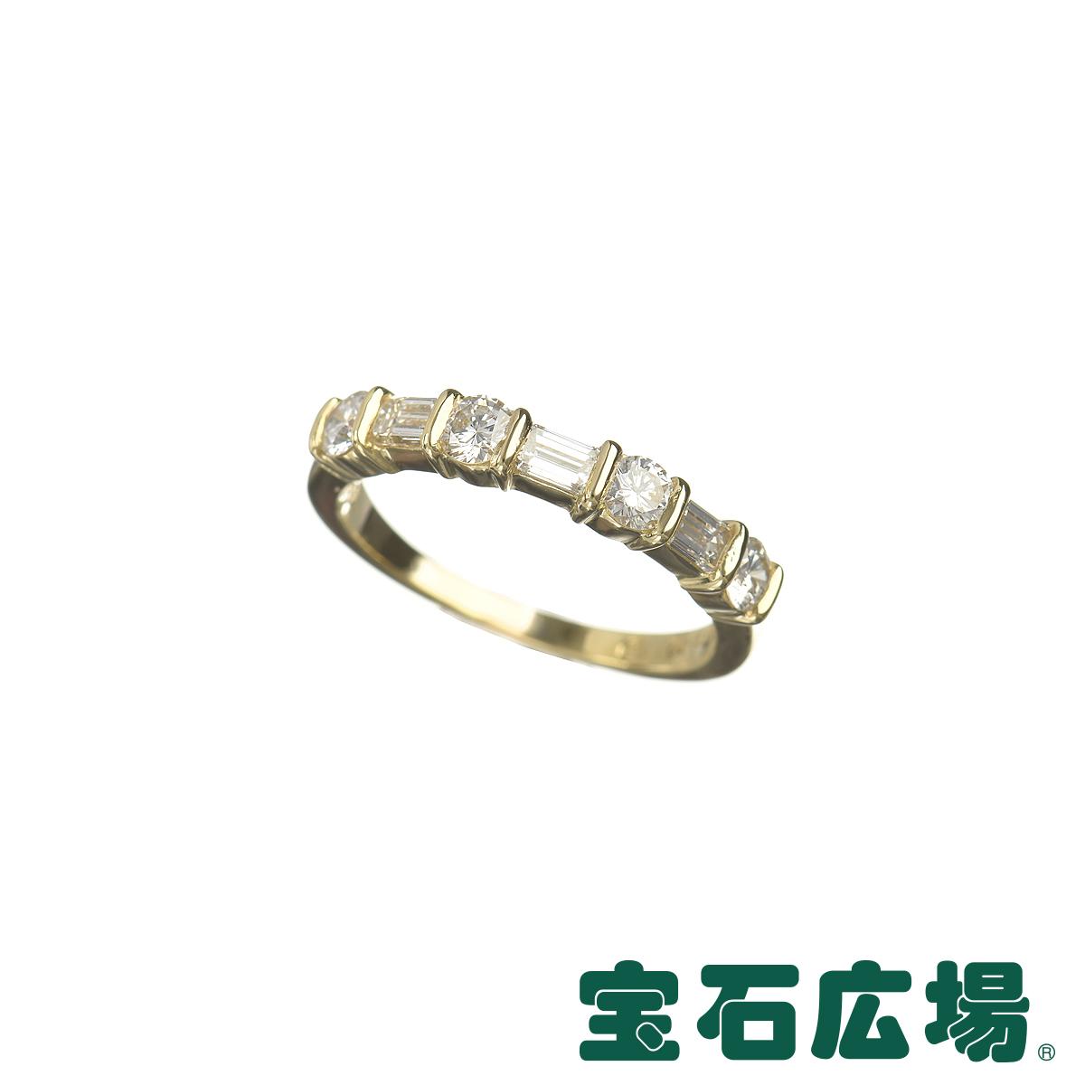 ティファニー TIFFANY&CO ハーフサークルバンド 3Pバゲットダイヤ・4Pダイヤ リング 【中古】 ジュエリー 送料無料