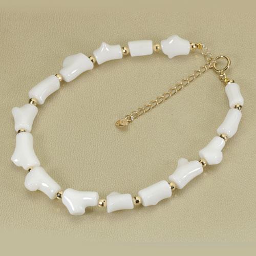 白珊瑚 ブレスレット K18YG 無染色 SANSUI宝石サンゴ 天然 本さんご コーラル