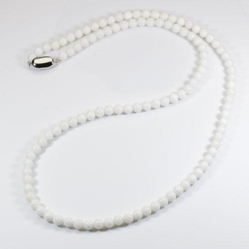 ミッド珊瑚(白) ネックレス シルバー 無染色 SANSUI宝石サンゴ 天然 本さんご コーラル