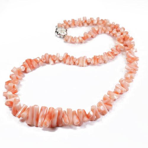 ピンク 深海珊瑚 ネックレス 枝サンゴ ヤタラ シルバー 無染色 SANSUI 宝石サンゴ 天然 本さんご コーラル