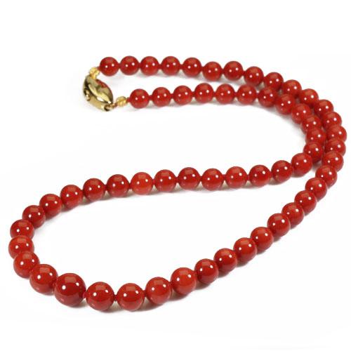 赤珊瑚 ネックレス 48cm K18 イエローゴールド 無染色 SANSUI 天然 sango 本さんご コーラル 宝石サンゴ 専門店