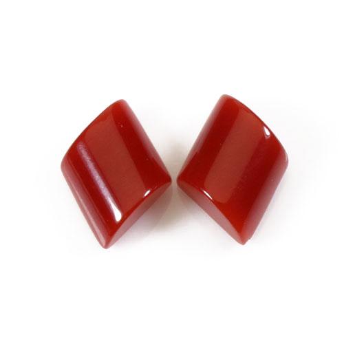 赤珊瑚 ピアス K18 イエローゴールド 無染色 SANSUI宝石サンゴ 天然 本さんご コーラル