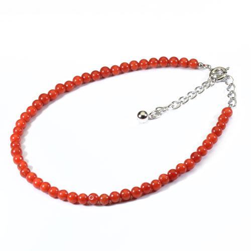地中海紅珊瑚 ブレスレット無染色 SANSUI宝石サンゴ 天然 本さんご コーラル