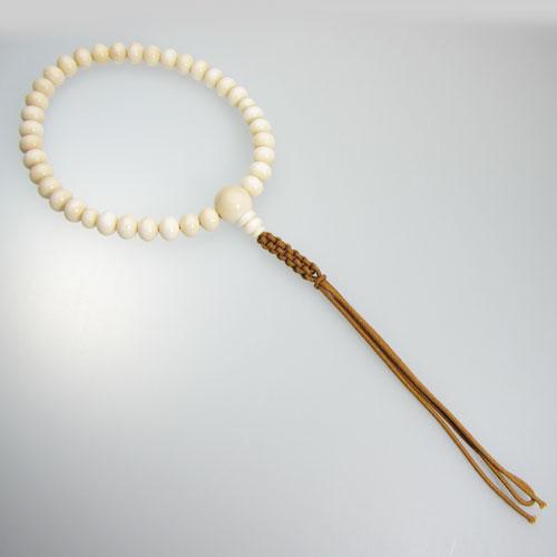 白珊瑚 数珠 念珠 紐房 片手 略式 正絹 無染色 SANSUI 宝石サンゴ 天然 本さんご コーラル
