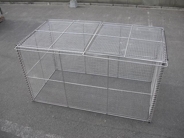 ステンレス製 折畳式ゴミステーション GOS-120