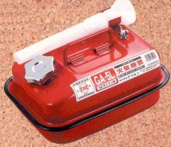 ガソリンの持ち運びは定められた金属缶で 出群 特別セール品 アベキン ガソリン携行缶 5L 国産品