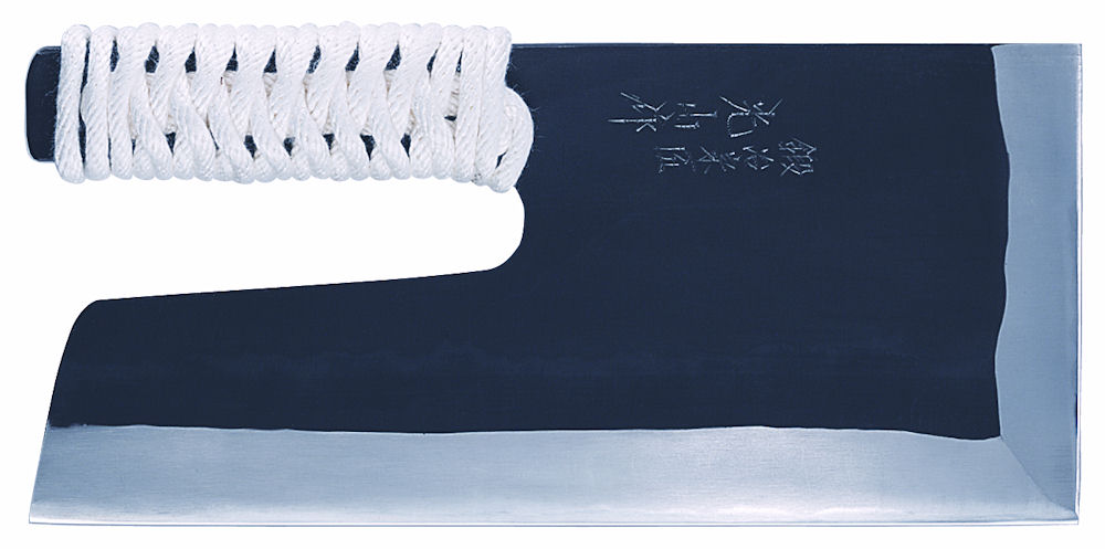 豊稔 安来鋼青紙黒打ちめん切包丁(布ケース付) 330mm A-1166