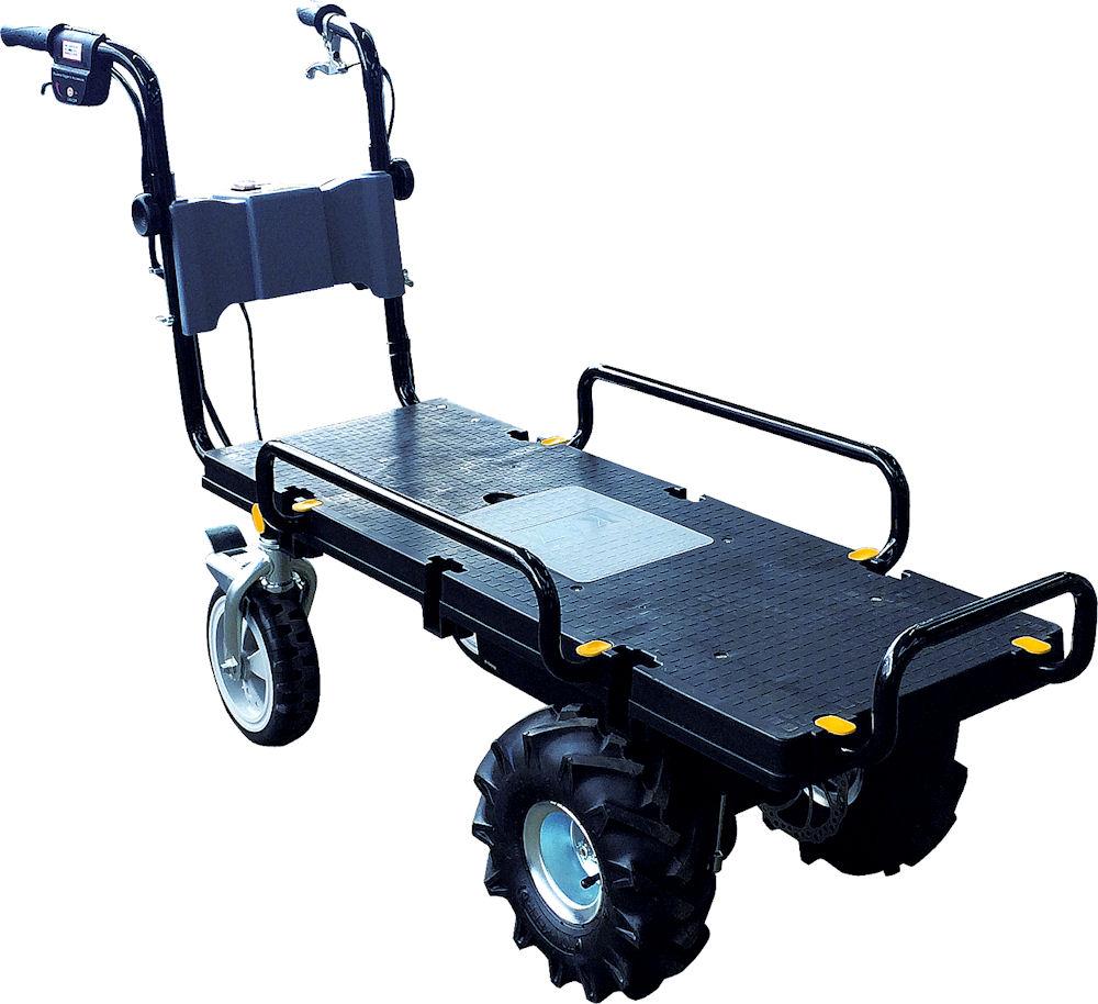 バッテリー式 電動4輪台車 エネトラ4  KT-8FRX エアー入りラグタイヤ仕様