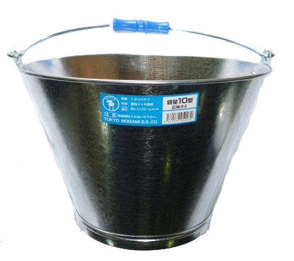 贈答品 多用途に使用できるトタンバケツ 予約 最上製作所 トタンバケツ 10型 8L