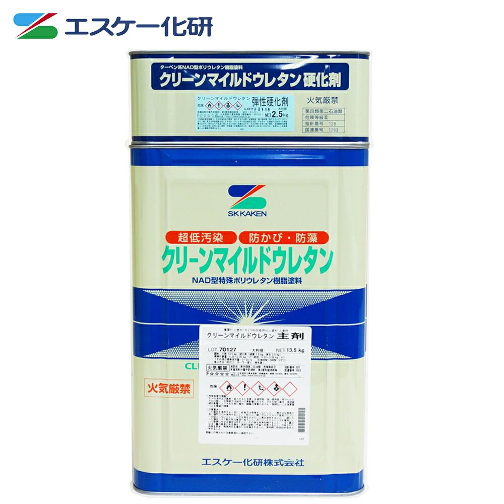 <title>超低汚染型NAD特殊ポリウレタン樹脂塗料 送料無料 弾性クリーンマイルドウレタン 16kgセット 白 淡彩色 メーカー直送便 代引不可 エスケー化研 外壁 お得セット 塗料</title>