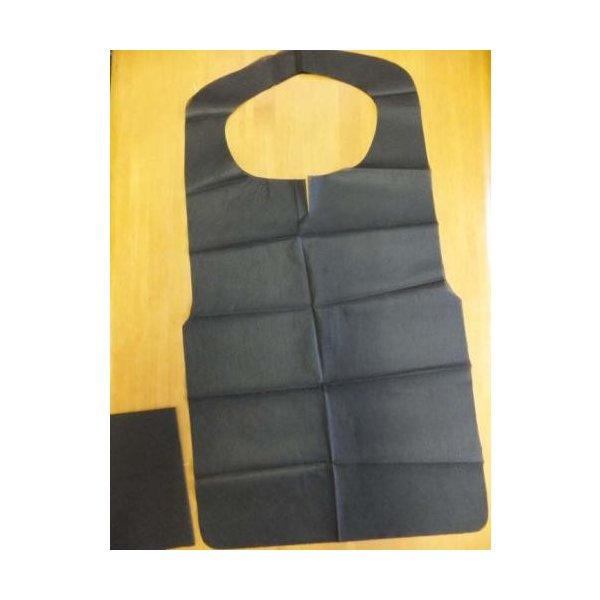 【個人宅配送別途送料】フジナップ フジ不織布エプロン F型中(黒) 6ツ折 390×720mm 1ケース1000枚入り