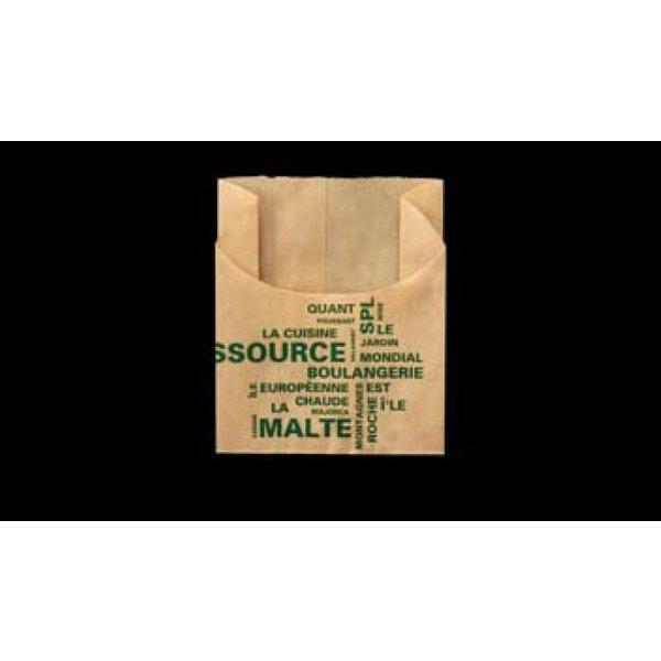 大阪ポリエチレン販売 8865 耐油紙袋 No214ヨーロピアンハーフムーン(茶) 90(マチ35)×62+45mm 1包1000枚入