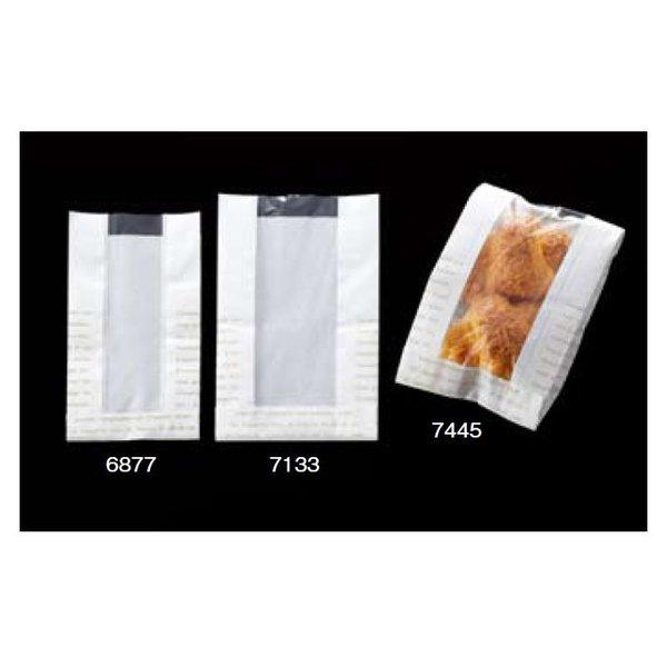 大阪ポリエチレン販売 7133 レシピ柄耐油耐水紙(フェネット袋) No.92 120(マチ50)×205+18mm 1ケース1000枚入