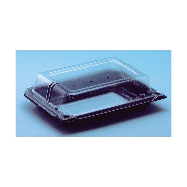 信和 フルーツパック コノミパックS 黒 窓付 8穴 155×120×52mm ボタン嵌合 1ケース800枚入り