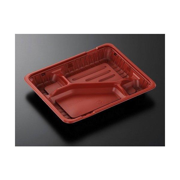 【店舗名等必要】中央化学 弁当容器 CTガチ弁 IK24-20C2R-BS身 赤/黒 238×196×30mm 1ケース800枚入り