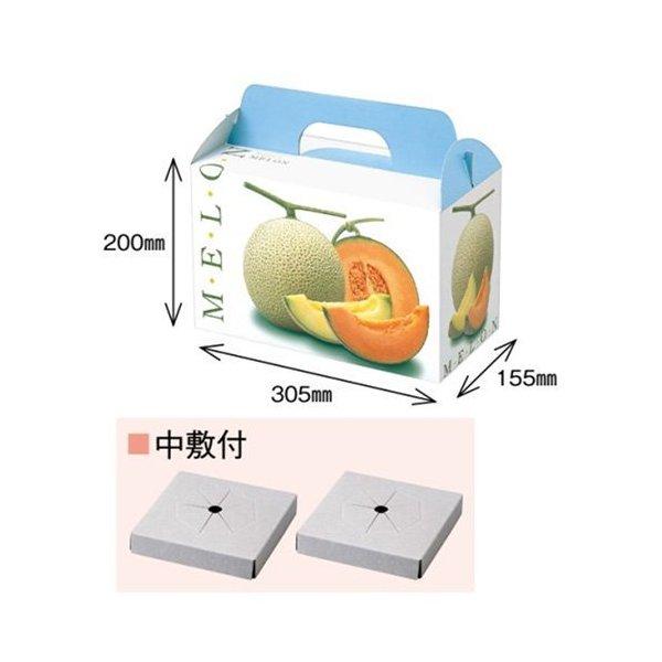 メロンの箱 返品不可 メロン用 化粧箱 ダンボール箱 屋号必須 リッチメロン2ヶ入 1セット10入り メロン箱 オリカ 売れ筋 310×160×290mm