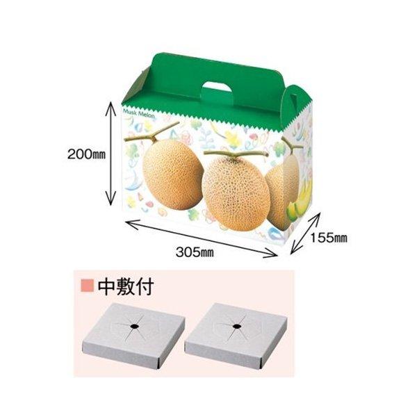 メロンの箱 いよいよ人気ブランド メロン用 化粧箱 ダンボール箱 SALE開催中 屋号必須 オリカ 310×160×290mm コロコロメロン2ヶ入 メロン箱 1セット10入り