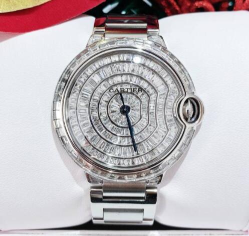 【新同品】CARTIER カルティエ バロンブルー アフターダイヤ W69012Z4 メンズ 腕時計 watch【送料・代引手数料無料】