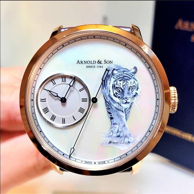【新品】ARNOLD&SON アーノルド&サン  18Kローズゴールド タイガー 1ARAP.M15A 限定8枚 レディース  腕時計 watch 【送料・代引手数料無料】