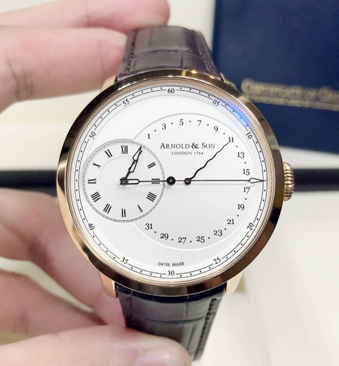 【新品】ARNOLD&SON アーノルド&サン  18Kローズゴールド タイガー 1ARAP.W01A.C120P 腕時計 watch【送料・代引手数料無料】