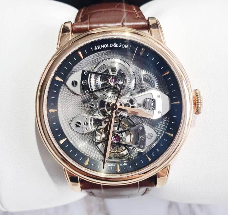 【新品】 ARNOLD&SON アーノルド&サン TBTE 18Kレッドゴールド 1TEAR.G01A.C113A 送料・代引手数料無料 メンズ 腕時計 watch【送料・代引手数料無料】