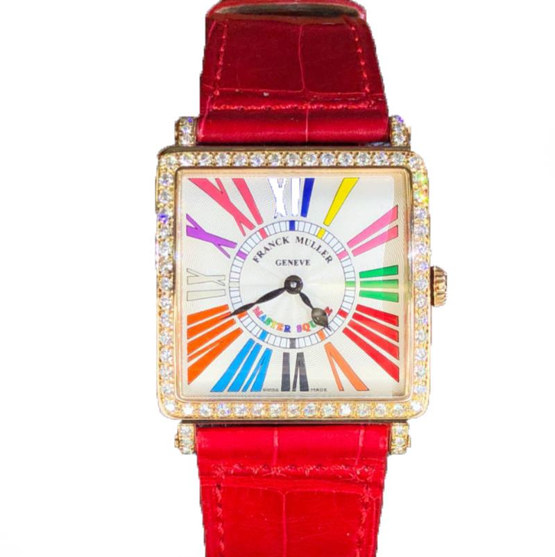 【新品】フランクミュラー マスタースクエア 18KPG カラードリーム ダイヤモンド 6002MB QZ COL DRM R D1R ステンレススチールレディース 腕時計 Watch 【送料・代引手数料無料】