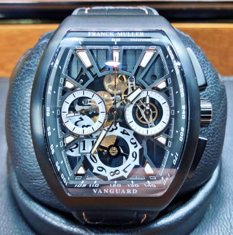 【新品】FRANCK MULLER フランクミュラー ヴァンガード クロノグラフV45 CC GD SQT TT NR BR 5N チタンpvd塗装 メンズ 腕時計 watch 【送料・代引手数料無料】