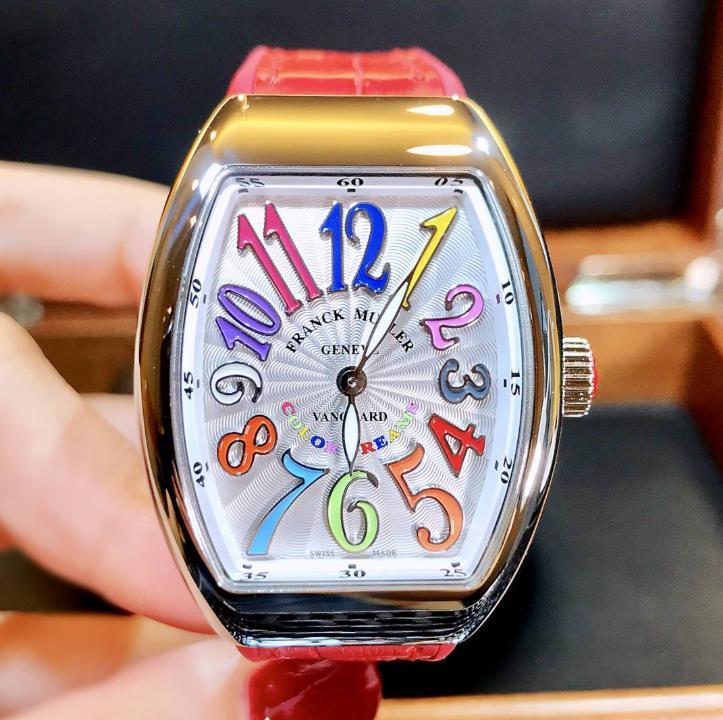 【新品】FRANCK MULLER フランクミュラー / ヴァンガード カラードリーム ステンレススチール V32 QZ COL DRM AC RG 腕時計 watch【送料・代引手数料無料】