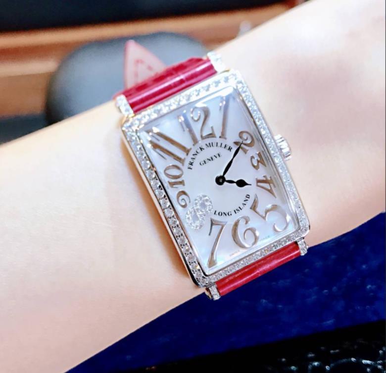 【新品】FRANCK MULLER フランクミュラー LONG ISLAND ロングアイランド 952QZ REL MOP D1R CD8 8ダイヤ ステンレススチール レディース 腕時計 watch【送料・代引手数料無料】