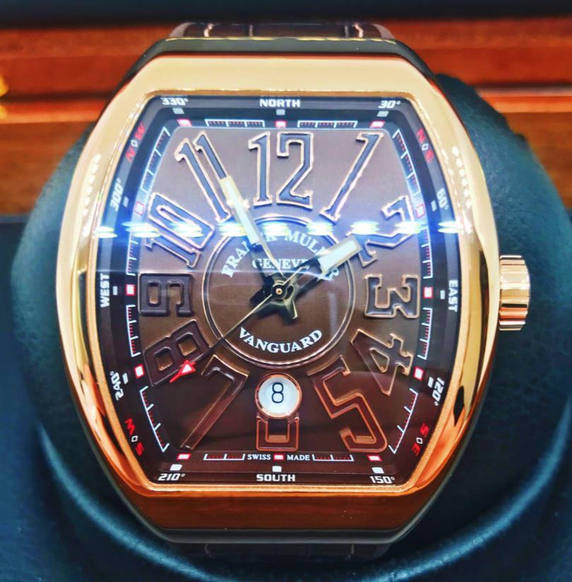 【新品】FRANCK MULLER フランクミュラー ヴァンガード ヨッティング V45 SC DT 5N BN メンズ 18kローズゴールド 腕時計 watch【送料・代引手数料無料】