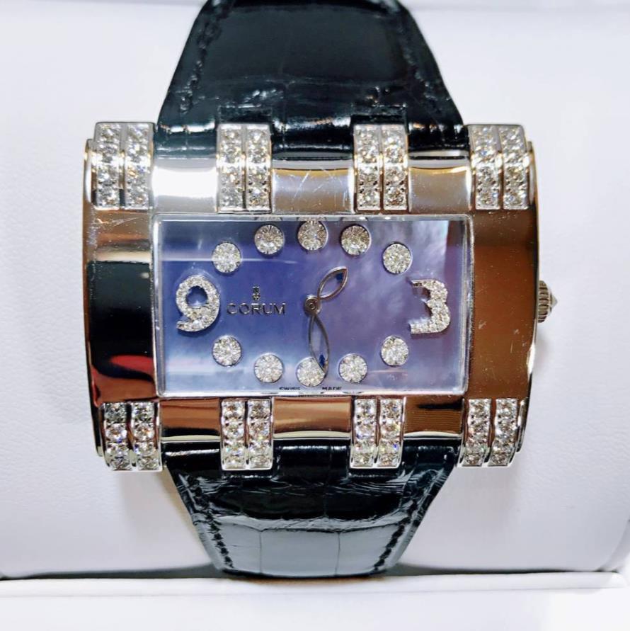 【中古美品】CORUM コルム 024.402.69/0010 PN10 18Kホワイトゴールド ダイヤモンド レディース 腕時計 watch【半年保証】