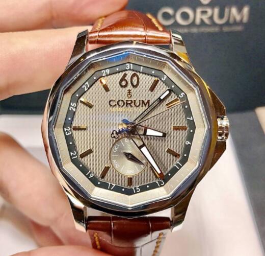 【新品】CORUM コルム アドミラルズカップ グレー メンズA503/03417  ステンレススチール メンズ 腕時計 watch【送料・代引手数料無料】