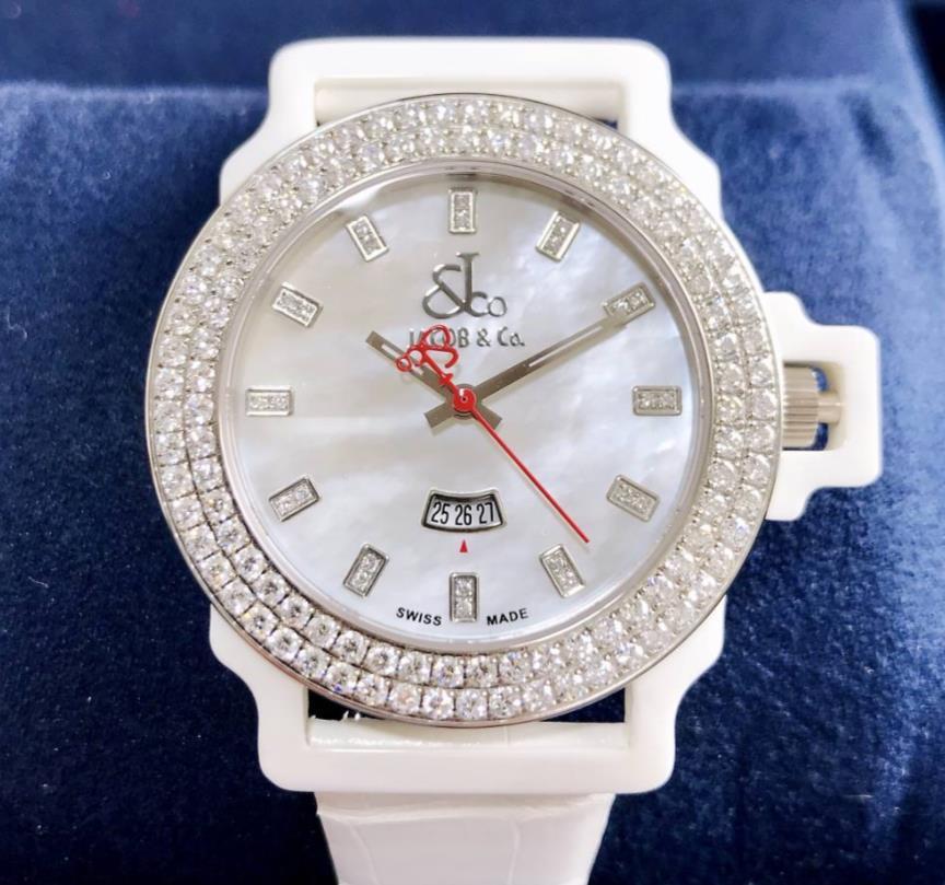 【新品】JACOB&CO ジェイコブ ワンタイムゾーン ステンレススチールXセラミック JC-S14 メンズ 腕時計 watch 【送料・代引手数料無料】
