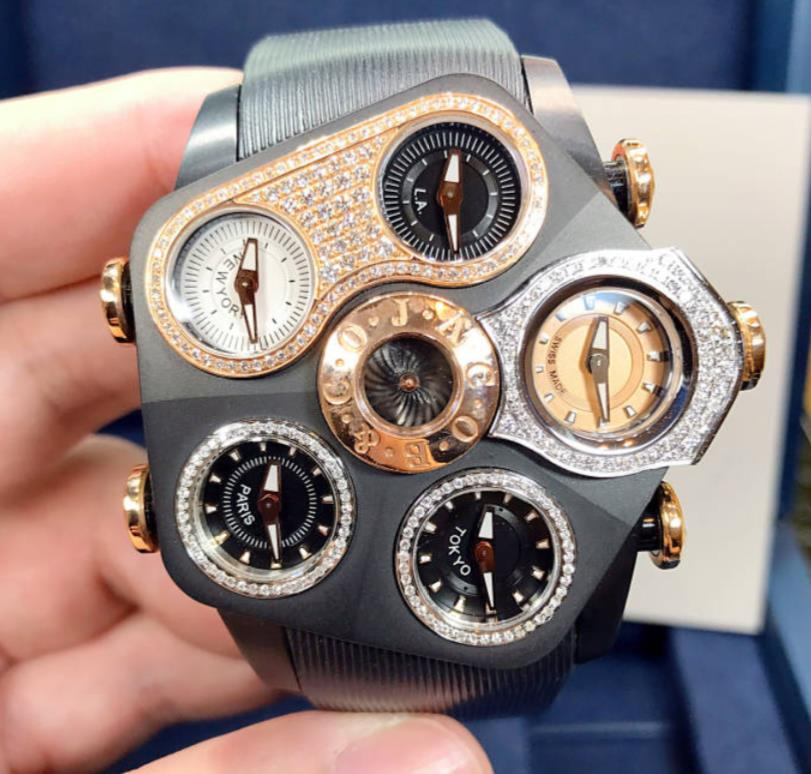 【新品】JACOB&CO ジェイコブ ファイブタイムゾーン グランド 18K ローズゴールド(PVD) GR1-21 メンズ 腕時計 watch 【送料・代引手数料無料】