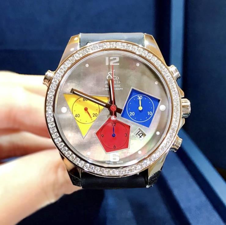 【新品】JACOB&CO ジェイコブ クロノグラフ デート ダイヤベゼル ACM-22 ステンレススチール メンズ 腕時計 watch【送料・代引手数料無料】