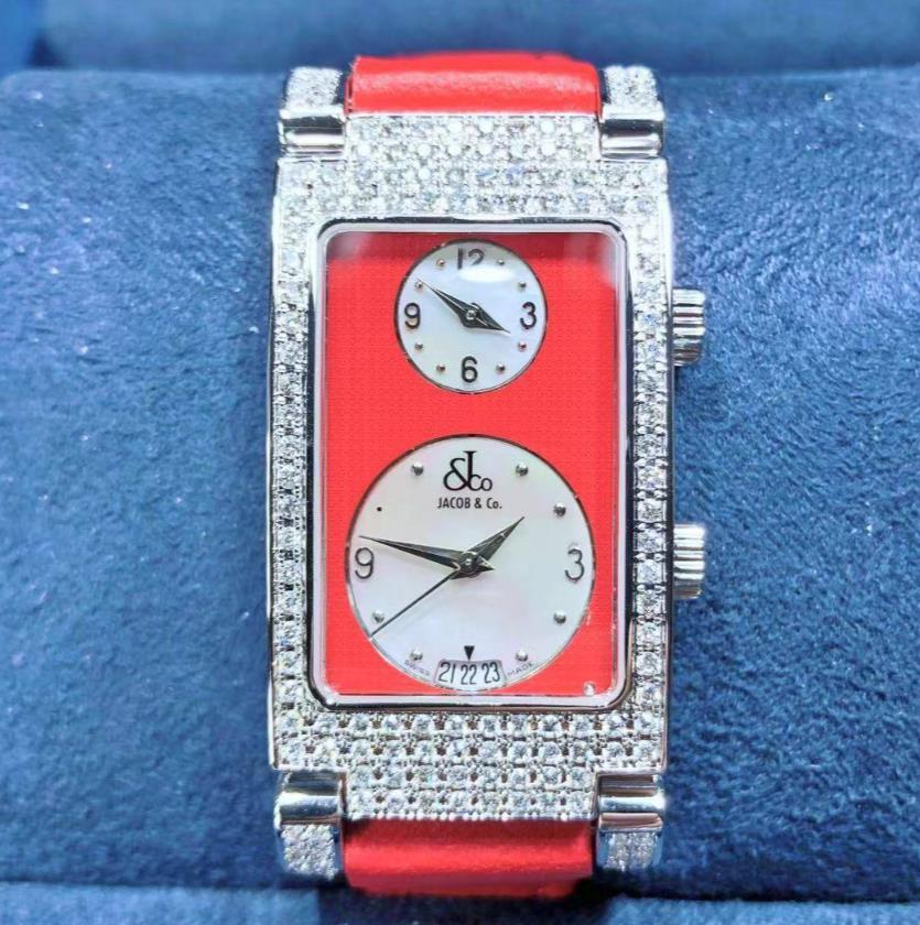 【新品】 JACOB&CO ジェイコブ  デート ステンレススチール ダイヤベゼル JC-A3P 腕時計 watch【送料・代引手数料無料】