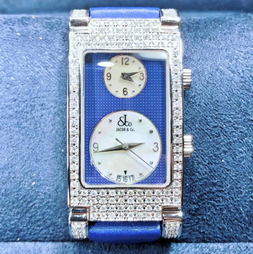 【新品】JACOB&CO ジェイコブ  デート ステンレススチール ダイヤベゼル JC-A4P 腕時計 watch【送料・代引手数料無料】