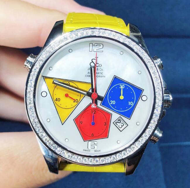 【新品】JACOB&CO ジェイコブ ファイブタイムゾーン ステンレススチール/ダイヤモンド ACM-11  腕時計 watch【送料・代引手数料無料】