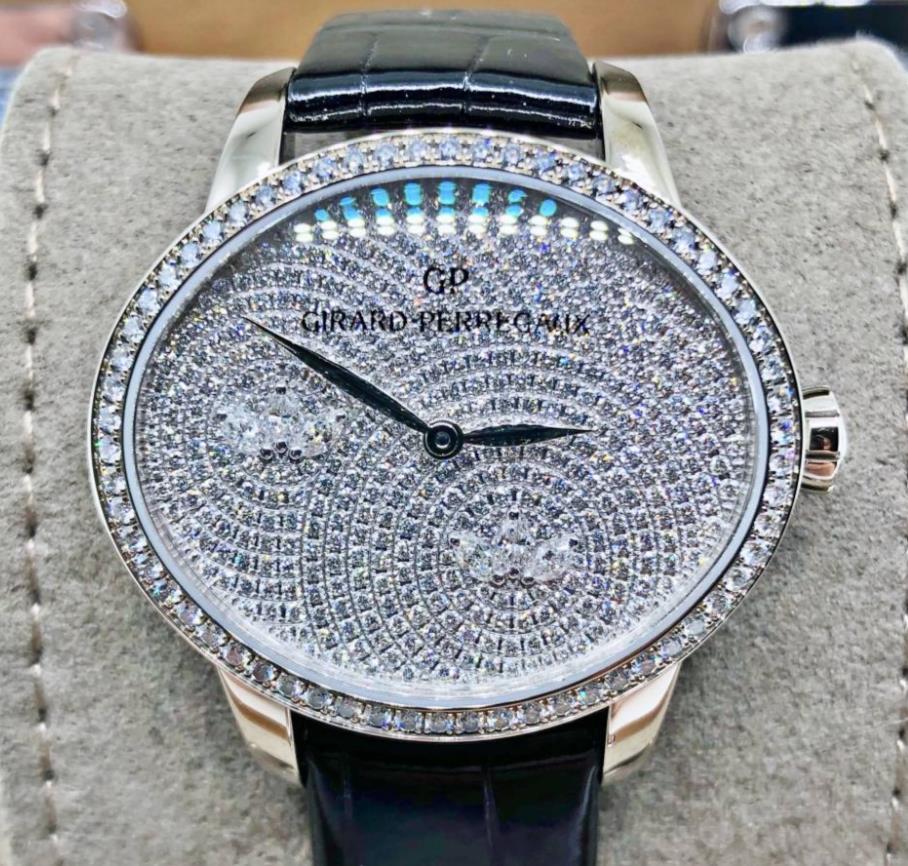 【新品】GIRARD PERREGAUX ジラール ペルゴ キャッツアイ ウォーターリリー 80489D53A1B1-CK6A 18Kホワイトゴールド ダイヤモンド レディース 腕時計 WATCH【送料・代引手数料無料】