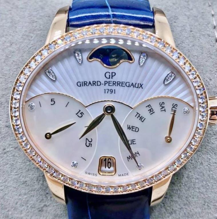 【新品】GIRARD PERREGAUX ジラール ペルゴ キャッツアイ 80485D-52A-751-CK4A 18kローズゴールド レディース 腕時計 watch 【送料・代引手数料無料】