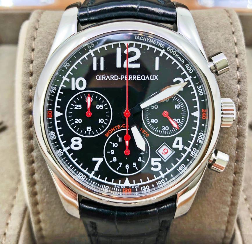【新品】GIRARD PERREGAUX ジラール ペルゴ モンテカルロ ステンレススチール メンズ 49580-11-611-BA6A 腕時計 watch 【送料・代引手数料無料】