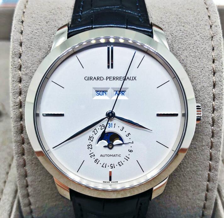 【新品】GIRARD PERREGAUX ジラール ペルゴ 1966  49535-53-152-BK6A 18Kホワイトゴールド メンズ 腕時計 WATCH【送料・代引手数料無料】