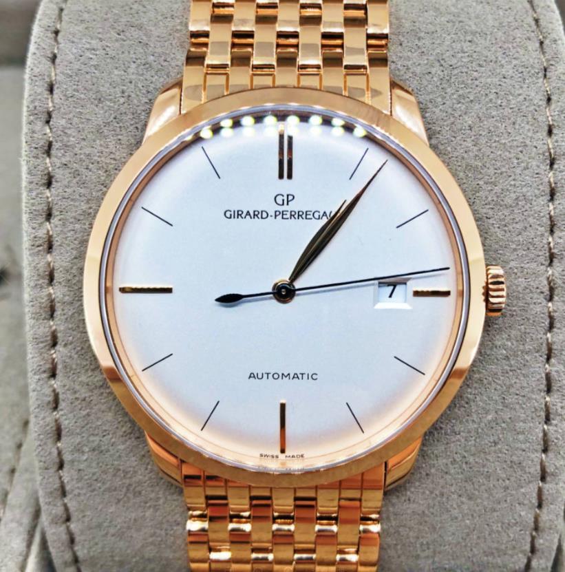 【新品】GIRARD PERREGAUX ジラール ペルゴ 1966 49525-52-131-52A 18kローズゴールド 腕時計 メンズ WATCH【送料・代引手数料無料】