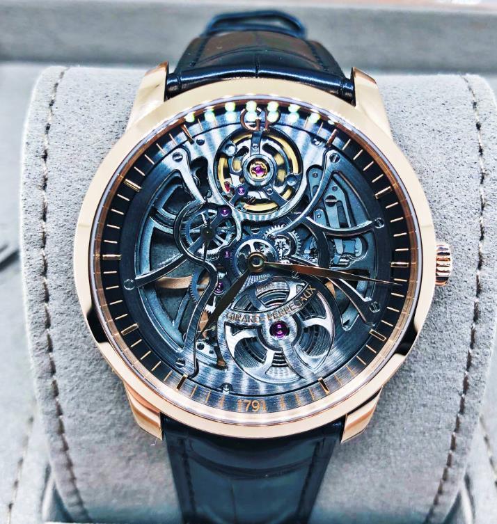 【新品】GIRARD PERREGAUX ジラール ペルゴ 1966  49549-52-001-BB60 18kローズゴールド メンズ 腕時計 WATCH【送料・代引手数料無料】