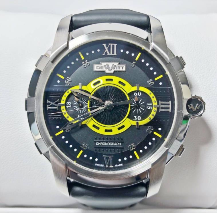 【新品】 DE WITT ドゥ・ヴィット GLORIOUS KNIGHT グロリアス ナイト FTV.CHR.007.S ステンレススチール メンズ 腕時計 WATCH 【送料・代引手数料無料】