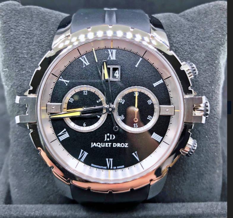 【新品】JAQUET DROZ ジャケドロー グラン・セコンド SW スティール J029530409 メンズ ステンレススチール 腕時計 watch【送料・代引手数料無料】
