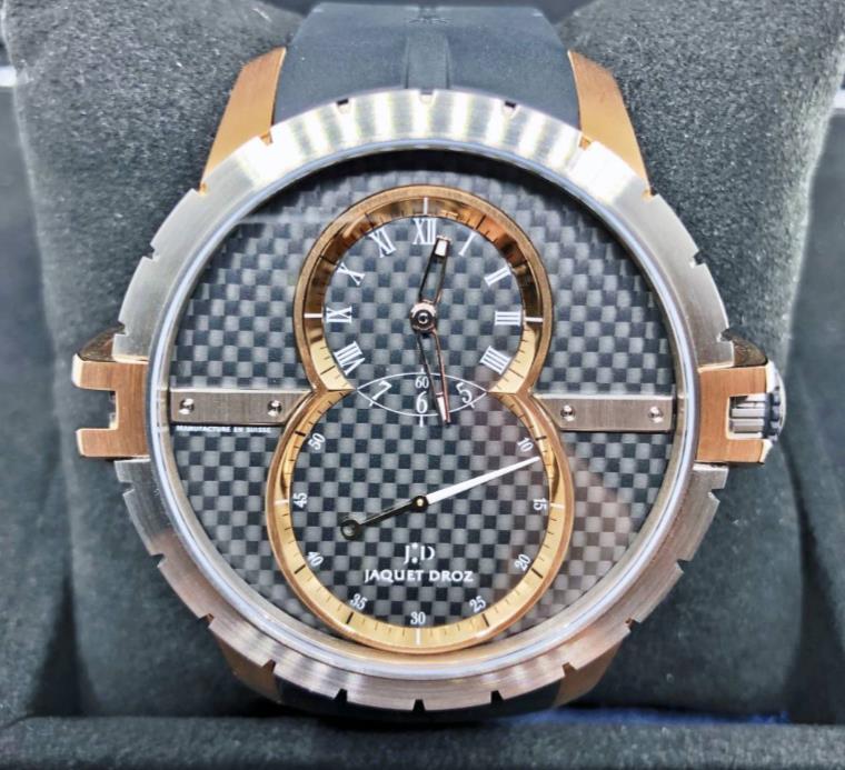 【新品】JAQUET DROZ ジャケドロー グラン・セコンド SW スティール J029037440 チタン メンズ 腕時計 watch【送料・代引手数料無料】