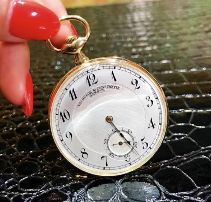 【良品】ヴァシュロン・コンスタンタン VACHERON CONSTANTIN 212612 クラシック懐中時計 18kホワイトゴールド 置き時計 懐中時計 メンズ レディース ユニセックス47.5mm 【半年保証】